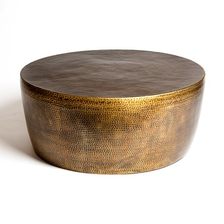 Izmir Hammered Brass Cocktail Table by Studio A