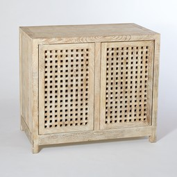 Driftwood Lattice 2-Door Cabinet by Studio A