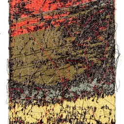 Small Abstract Embroidery by Terry Boyd Studios