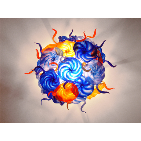 Blown Glass chandelier by Seth Parks Glass