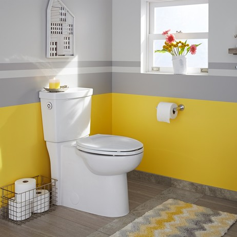 Clean ActiVate Touchless Flush Right Height Elongated Toilet by American Standard