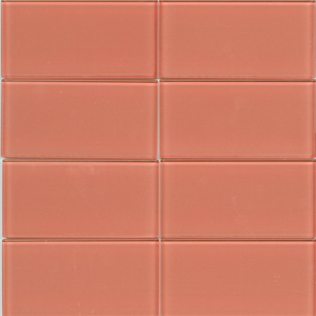 Lush Coral glass Subway Tile by Modwalls