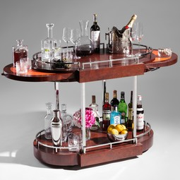 NORMANDIE BAR CART by zelouf+BELL FURNITURE MAKERS