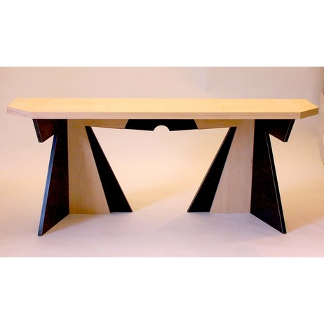 Folding Dining/ Console Table by Works in Wood