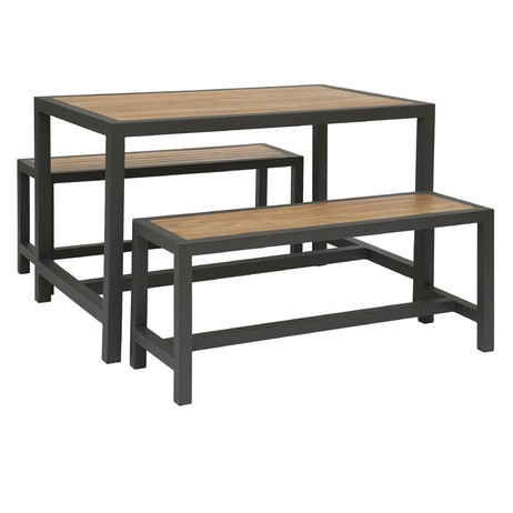 Brew table and 2 Benches by Hill Cross Furniture
