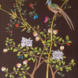 Painted on Silk - Mahpgany by Fromental