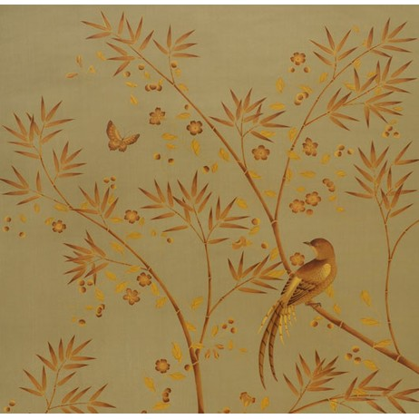 Painted on Silk - Mustard Grass by Fromental