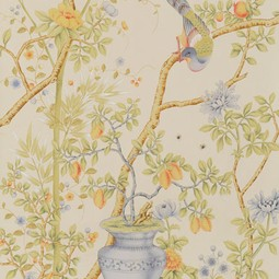 Painted on Silk - Harvest by Fromental