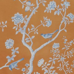 Painted on Silk - Copper Iron by Fromental