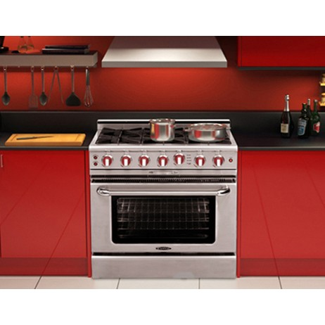 "Culinarian 36"" Self Clean Gas Range by Capital Cooking Equipment Inc."