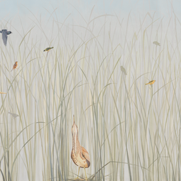 Coastal Grasses Mural by Audrey Home Collection