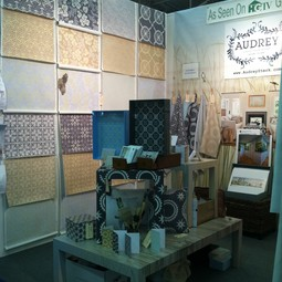 Our booth at the NYIGF 2012! by Audrey Home Collection