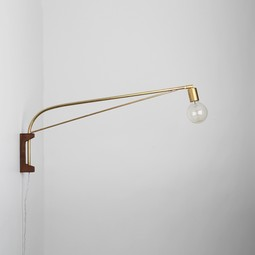 Bare Bulb Wall Lamp by Allied Maker