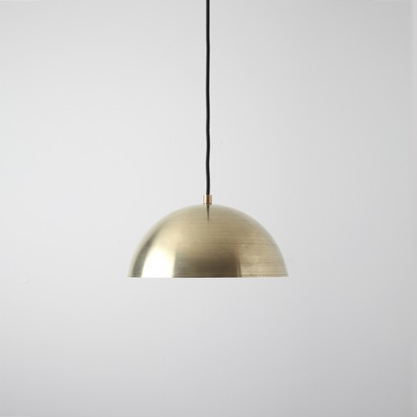 Brass Half Dome Pendant by Allied Maker