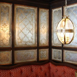 Banquette Wall by Artique Glass Studio, Inc.