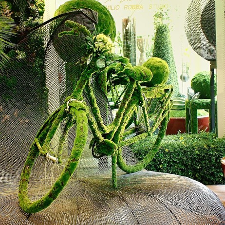 Garden Bicycle by Emilio Robba