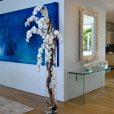 Phalaenopsis Orchids & Driftwood by Emilio Robba