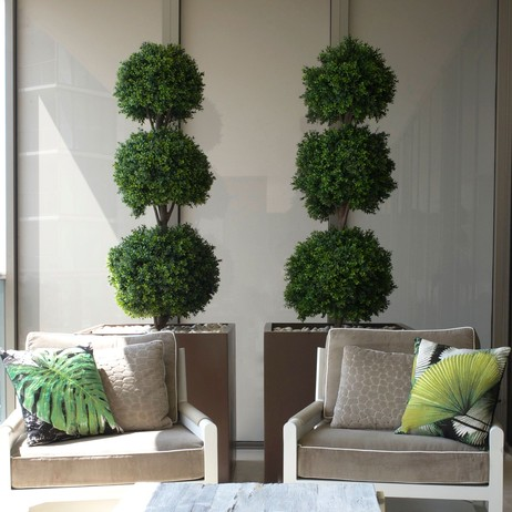 Triple Ball Boxwood Topiary by Emilio Robba