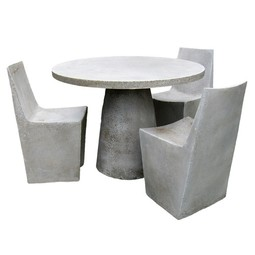 Stone Dining Chair & Dining Table by Zachary A. Design
