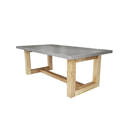 Zen Wood Dining Table by Trueform Concrete, LLC