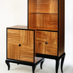 Three squared cabinet by Gregg Lipton Furniture