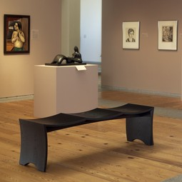 Museum Bench for 3 by Gregg Lipton Furniture