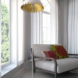 Quito Floor Lamp White by Iris Design Studio