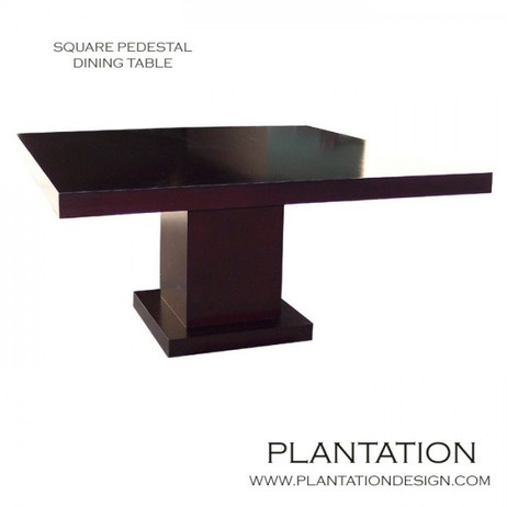 Square Pedestal Dining Table by Plantation Design