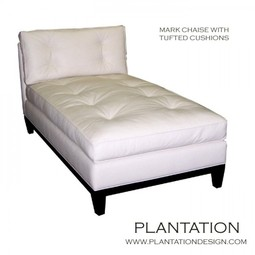 Mark Chaise with Optional Tufting by Plantation Design