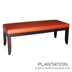 Carson Bench no tufting by Plantation Design