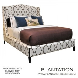 Anson Bed with Curved Top Headboard by Plantation Design