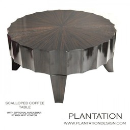 Scalloped Coffee Table Round by Plantation Design