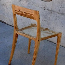 plywood low-back chair by white design
