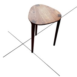 walnut side table by white design
