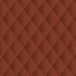 Faux Padded Harlequin - Red by Casart Coverings, LLC