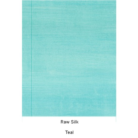 Raw Silk - Teal by Casart Coverings, LLC