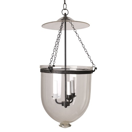 LARGE CLEAR HALL LANTERN by Circa Lighting