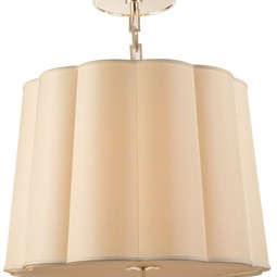 LARGE SIMPLE SCALLOP CHANDELIER by Circa Lighting