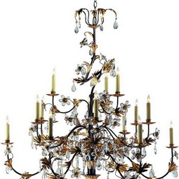 CRYSTAL PETAL CHANDELIER by Circa Lighting