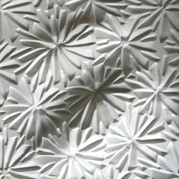 Porcelain Architextural® White on White Flower  by Natalie Blake Studios