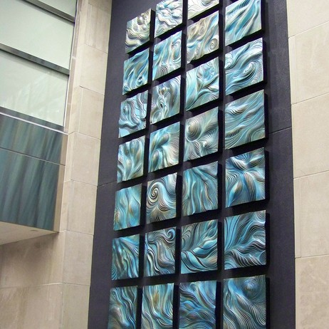 Rittenhouse Square Turquoise Abstract Wall Art by Natalie Blake Studios