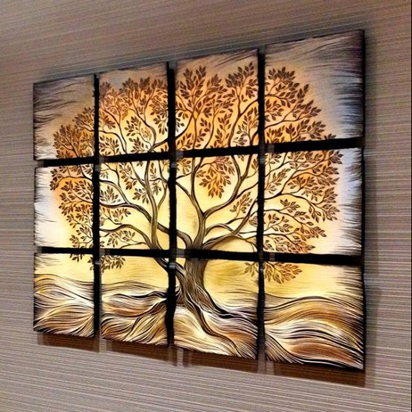 Tree of Life for Woodwinds Hospital Art Cancer Center by Natalie Blake Studios