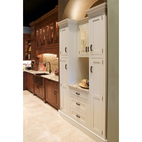 Hanover Inset Maple, Creme Mocha by Wellborn Cabinet, Inc.