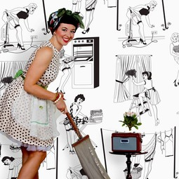 50's Housewives Wallpaper by Dupenny
