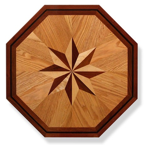 Octagon Wood Floor Medallion MO001 by PID Floors