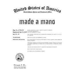 US Trade Mark Registration by Made A Mano