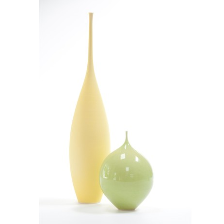 Teardrop & pod (yellow/green) by Sophie Cook