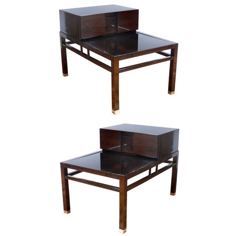 MODERNIST END TABLES by Irwin Feld Design