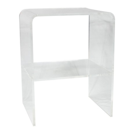 LUCITE WATERFALL SIDE/END TABLE by Irwin Feld Design