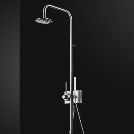 Semi Exposed Thermostatic Shower System with Hand Shower  by MGS